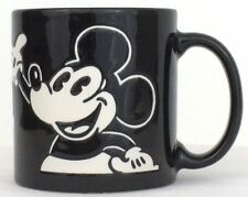 Black and White Retro Mickey Mouse Coffee Mug Tea Cup Etched Design