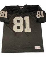 Oakland Raiders Tim Brown 81 Logo Athletics Men's Jersey Black Short Sleeve L