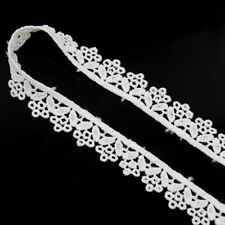 Vintage Embroidered Lace Edge Trim Ribbon Bridal Applique DIY Sewing Craft 5 Yd