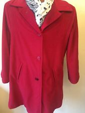 Womans Sherwood USA  Size 14 Red Lined Coat Vintage