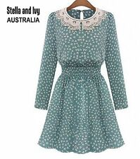 FLORAL SKATER VINTAGE BOHO DRESS SIZE 8 AU WOMENS NEW
