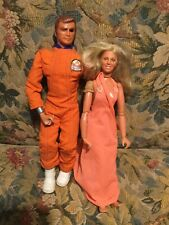 Vintage 1975 The Six Million Dollar Man, Bionic Woman Action Figures together!