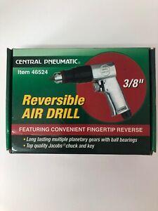 "Central Pneumatic Reversible Air Drill 3/8"" 1700 RPM 5 SCFM Set 46524"