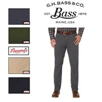SALE! G.H. Bass Men's Brushed Twill Stretch 5 Pocket Flex Wasitband Pant | I41