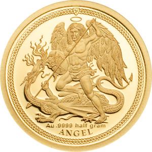 Golden Angel 2018 Goldmünze Isle of Man 0,5 g 999 | Le Grand Mint-Shop Gold coin
