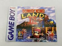 Donkey Kong Land III 3 - Authentic - Nintendo Game Boy - Manual Only!