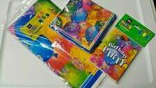Birthday Party Bundle Multicolor Napkins Invitations Tablecloth C21