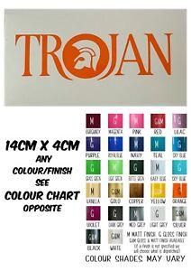 Trojan Sticker High Quality Vinyl Sticker/Decal 14cm x 4cm All Colours | Bikes