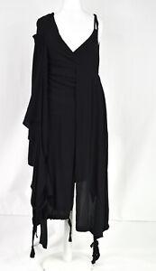 Stunning Barbara i Gongini Black Asymmetric Shift Dress Size Large