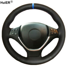 For BMW E70 X5 2008- 2013 E71 X6 2008 -2014 Hand Sewing Car Steering Wheel Cover