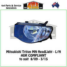 HEADLIGHT fit MITSUBISHI TRITON MN - L/H LEFT PASSENGER SIDE 2009-2015 ADR