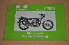 Ersatzteilkatalog KAWASAKI Motorrad Z750 L Englisch Motorcycle Catalog 1980