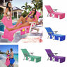 Sun Lounger Mate Beach Towel Carry With Pockets Bag For Holiday Garden Lounge NU