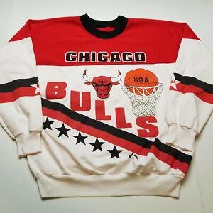 Vtg NBA Chicago Bulls Sweatshirt Mens L Crewneck Basketball Pullover 90s ?66