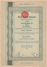 Bankn Negara Indonesia Bond 1962 Jakarta Rp 5000 No. 288592