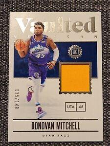 19 20 Panini Encased Basketball Vaulted Veteran Donovan Mitchell Patch /149
