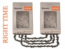 """2 x Genuine Stihl Saw Chains for 16"""" Guide Bar on Stihl 020 021 MS200T MS210 +"""