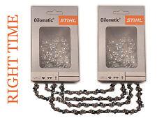 """2 X Genuine STIHL Talla Cadenas De Sierra Para MS200 y barras de cañón 12"""" 64DL 1/4x050"""