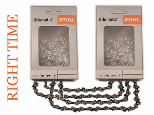"""2 x Genuine Stihl Saw Chains for 038 039 MS361 440 660 fits 24""""-  25""""  Guide Bar"""