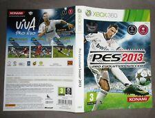 XBOX 360 PES 2013 Konami CRISTIANO RONALDO CR7 Solo Copertina NO Gioco