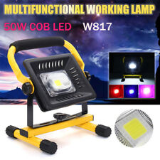 50W LED Portable Flood Light Spot Work Camping Outdoor Lawn Lamp Rechargeable