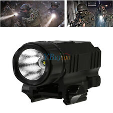 Aluminum Tactical CREE LED Tactical Flashlight Torch with Picatinny Rail Mount