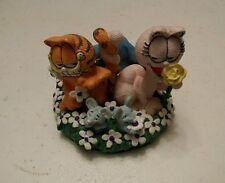 "035 1993 Danbury Mint Garfield ""Love in Bloom"" Figurine by Jim Davis Coa"