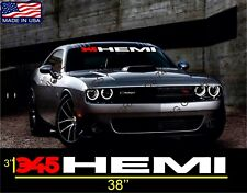 345 hemi windshield  Vinyl Decal Stickers Dodge Charger Challenger SRT