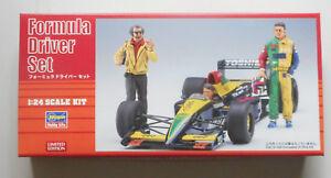 Formula 1 Type Race Car Team Driver Set 1:24 Scale Hasegawa Model Kit