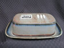 Mikasa Potter's Craft FIRESONG HP300 1/4lb Butter Dish w/Underplate, Japan (2)