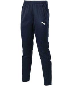 PUMA Tracksuit Bottoms Kids Entry Navy Blue Slim Fit Gym Sports Training Pants