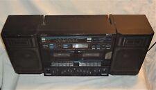 VINTAGE 1989 ELECTRON ACTION AM/FM STEREO RADIO DUAL CASSETTE GHETTOBLASTER