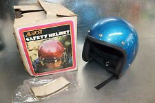 NOS Buco All Sport Vintage Cafe Blue Metalflake Med Open Face Helmet 2005-5