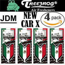 Treefrog Wakaba Young Leaf JDM Air Freshener Mexico Flag- New Car X Scent 4 PACK