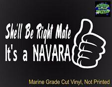 NAVARA d40 d22 4x4 Ute Car accessories Funny Nissan Stickers 200mm
