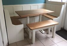 U Shaped Dining Bench Set with Table and Storage (MADE TO ANY SIZE)