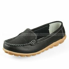 Women Flats 100% Genuine Leather Shoes Slip-on Comfort Shoes 8 Colors Moccasins