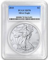 2018 1oz Silver Eagle PCGS MS70 - Blue Label