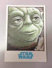 Star Wars Journey to the Force Awakens YODA Sketch Card By Mike Babinski