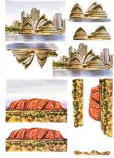 3D Bastelbogen Sydney Opera House + Uluru (Ayers Rock)