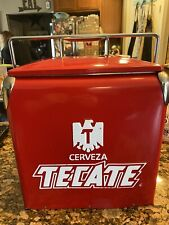 Tecate Metal Ice Chest