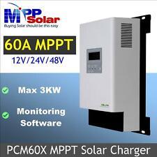 PCM60X 60A MPPT solar charge controller regulator 12v 24v 48v 3kw solar charger