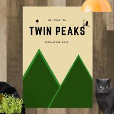 TWIN Peaks TV Show minimalista foto su tela A4 A3 A2 A1 Print pronto da appendere
