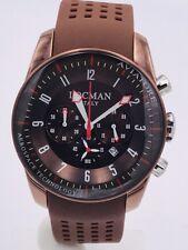 Orologio Locman Aviatore Crono 44mm Acciaio Brown/Gomma 580€ Scontatissimo Nuovo
