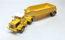 Ho 1/87 Kw Dart 50 Bdt/Bottom Trailer - Yellow - Ready made Resin Model
