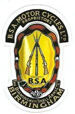 BSA MOTORCYCLE Sticker Decal
