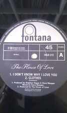 """THE HOUSE OF LOVE I Don't Know Why I Love You 12"""" 1989 Indie Rock NEAR MINT!!"""