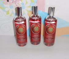 The Body Shop Strawberry Body Mist 100ml./3.3oz. X 3 NEW