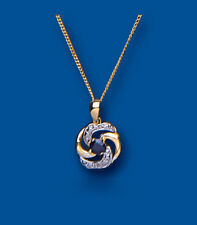 Sapphire Pendant Yellow Gold Necklace