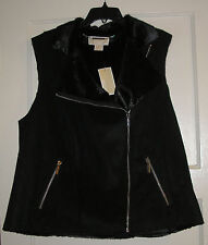 Womens Plus Michael Kors Black Faux Suede Vest,  Size 18W NEW  NWT